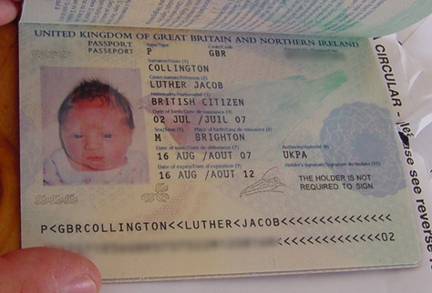 Luther's Passport