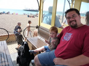 train-at-beach