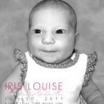 Iris baby announcement